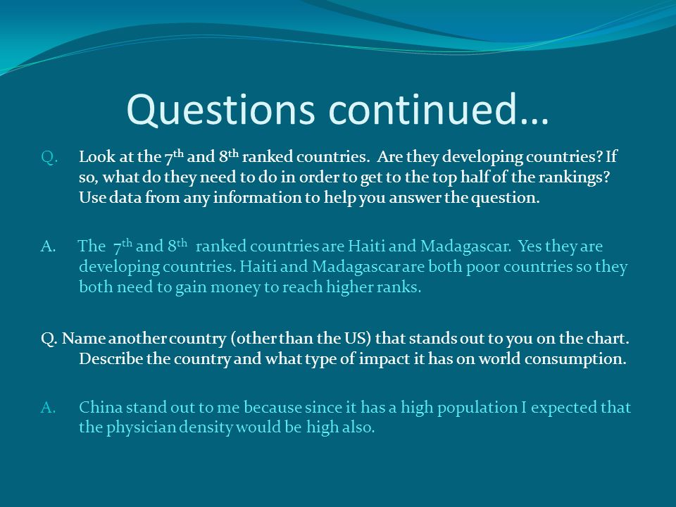 Skye Taylor Questions Q What Country Has The Largest Column - Poor country name