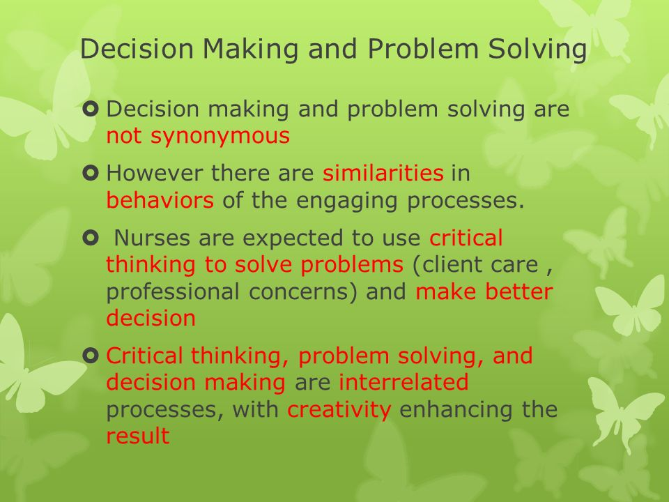 problem solving decision making techniques Problem solving and decision making center on identifying and applying skills needed to solve problems and make delicate decisions that allow work teams to go from dysfunctional to functional.