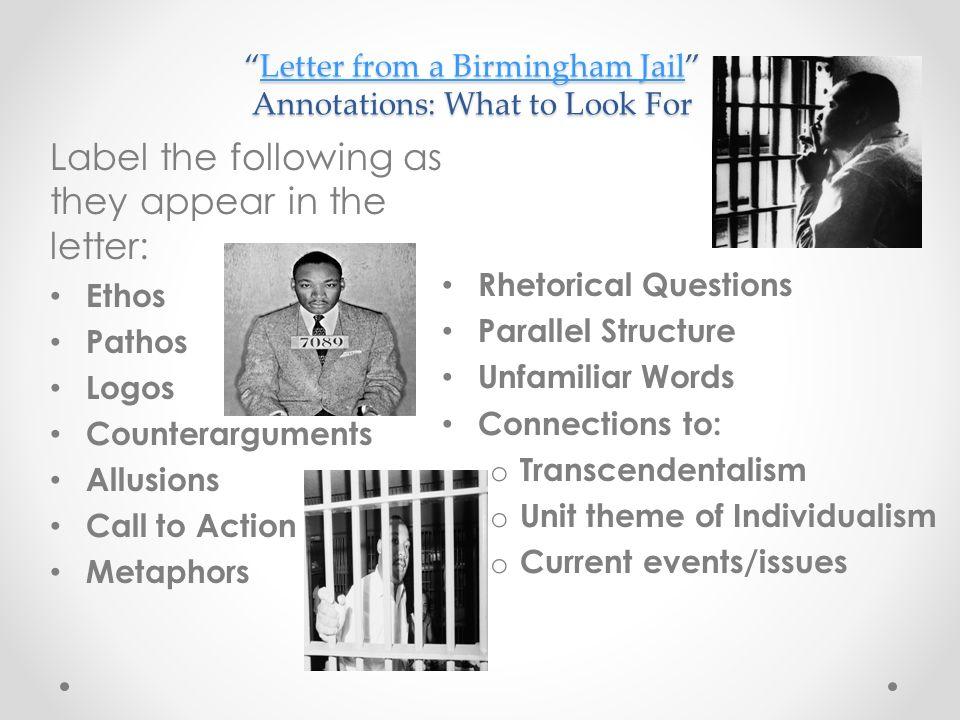 rhetorical strategies in letter from birmingham jail