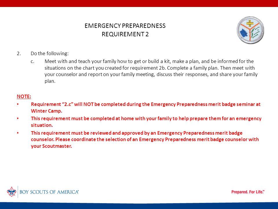 Boy Scout Troop 780 - Emergency Preparedness