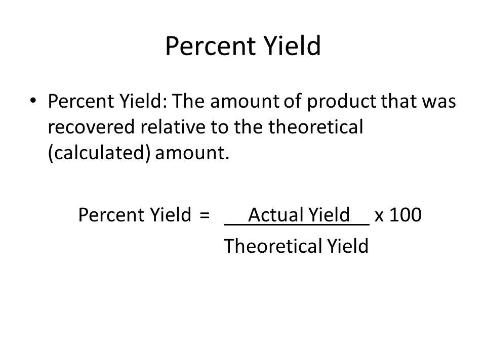 percent yield - Resumess.memberpro.co