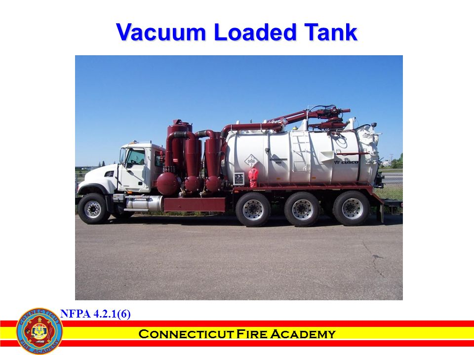 Connecticut Fire Academy Vacuum Loaded Tank NFPA 4.2.1(6)