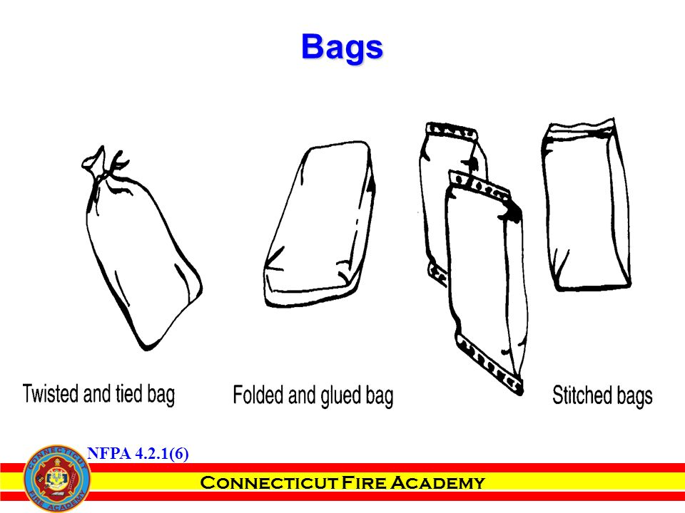 Connecticut Fire Academy Bags NFPA 4.2.1(6)