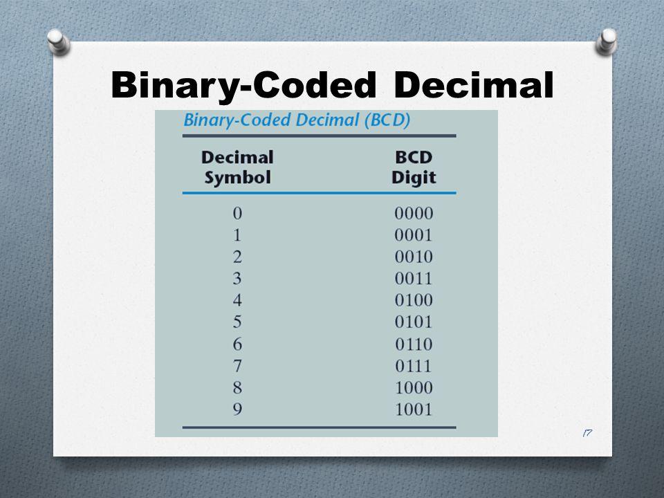 Binary-Coded Decimal 17