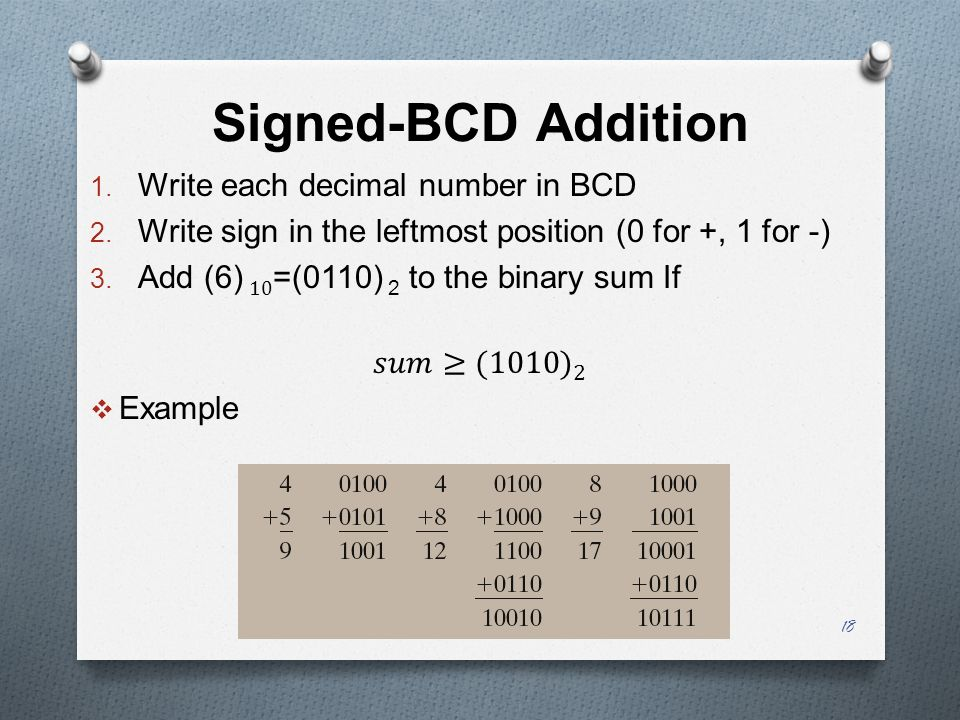 Signed-BCD Addition 18