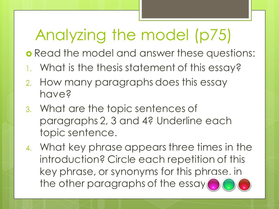 parts of introduction in thesis The main parts (or sections) to an essay are the intro, body, and conclusion in a standard short essay, five paragraphs can provide the reader with enough information in a short.