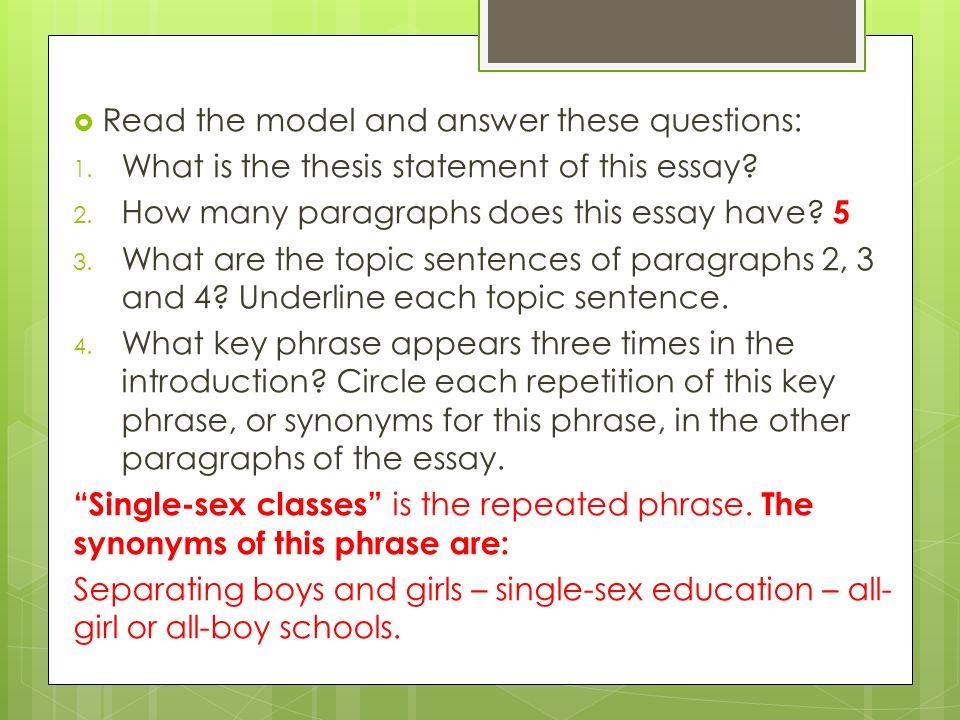 5 part essay