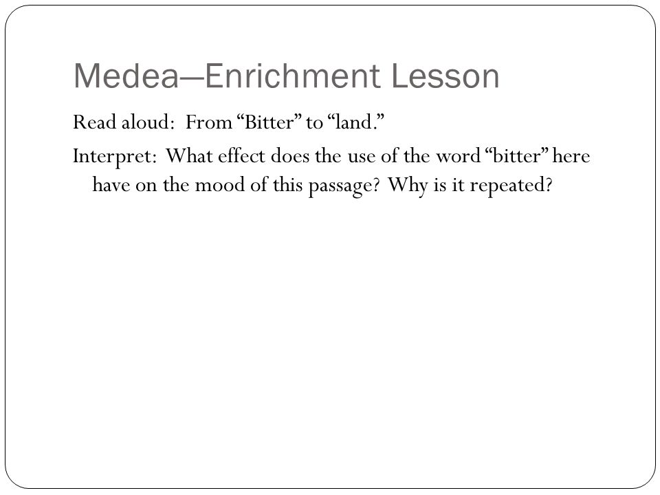 MedeaEnrichment Lesson Page  MedeaS Lines At The Bottom Read