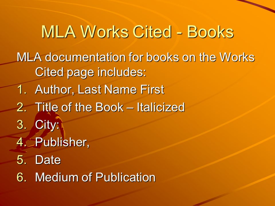 mla format work citation