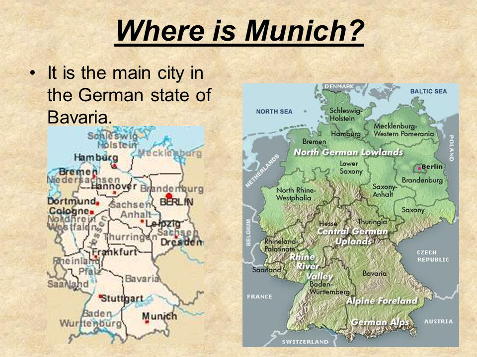 What Do You Think Is Happening In This Picture Lesson Objectives - Where is munich
