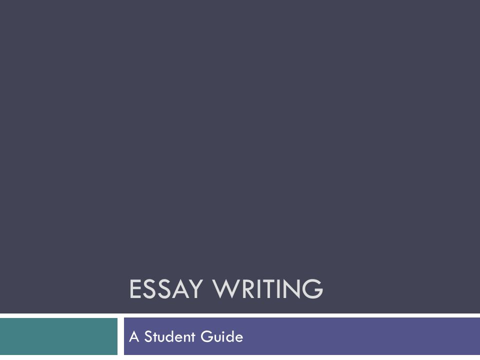 essay writing a student guide analysing the question  1 essay writing a student guide
