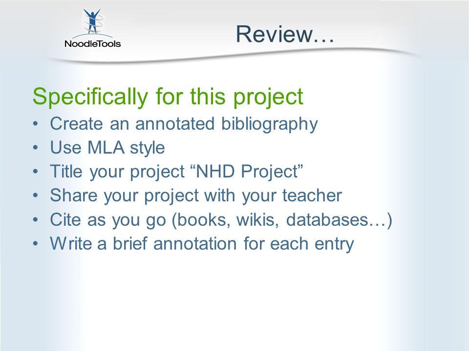 Bibliography Nhd Example   bul