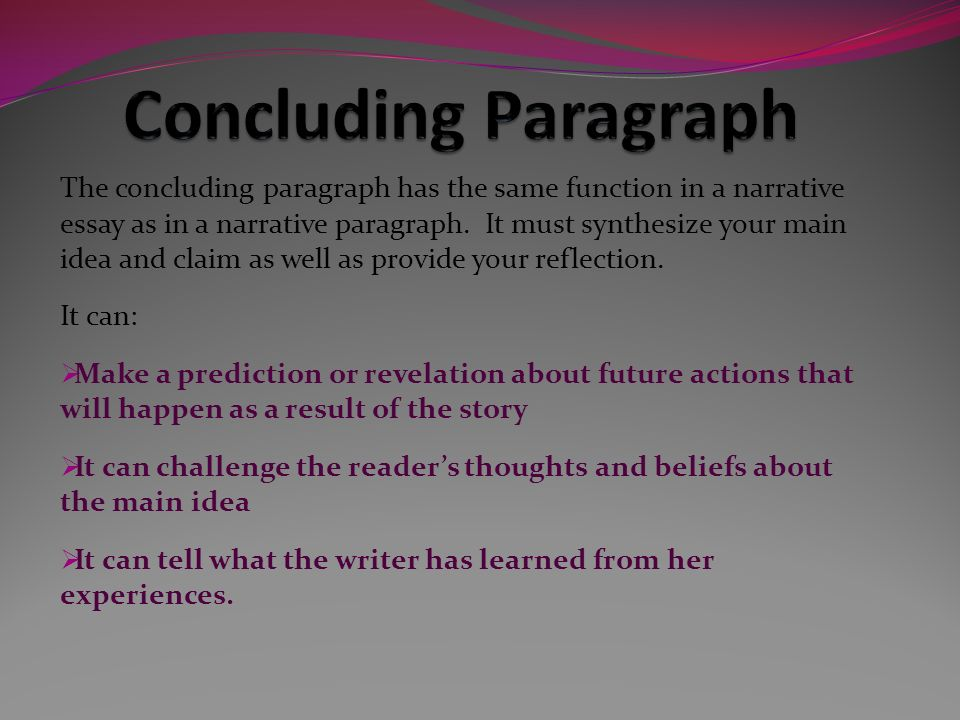 narrative essay conclusions
