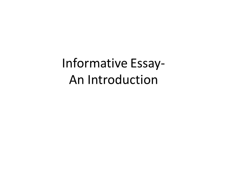 introduction types in essay