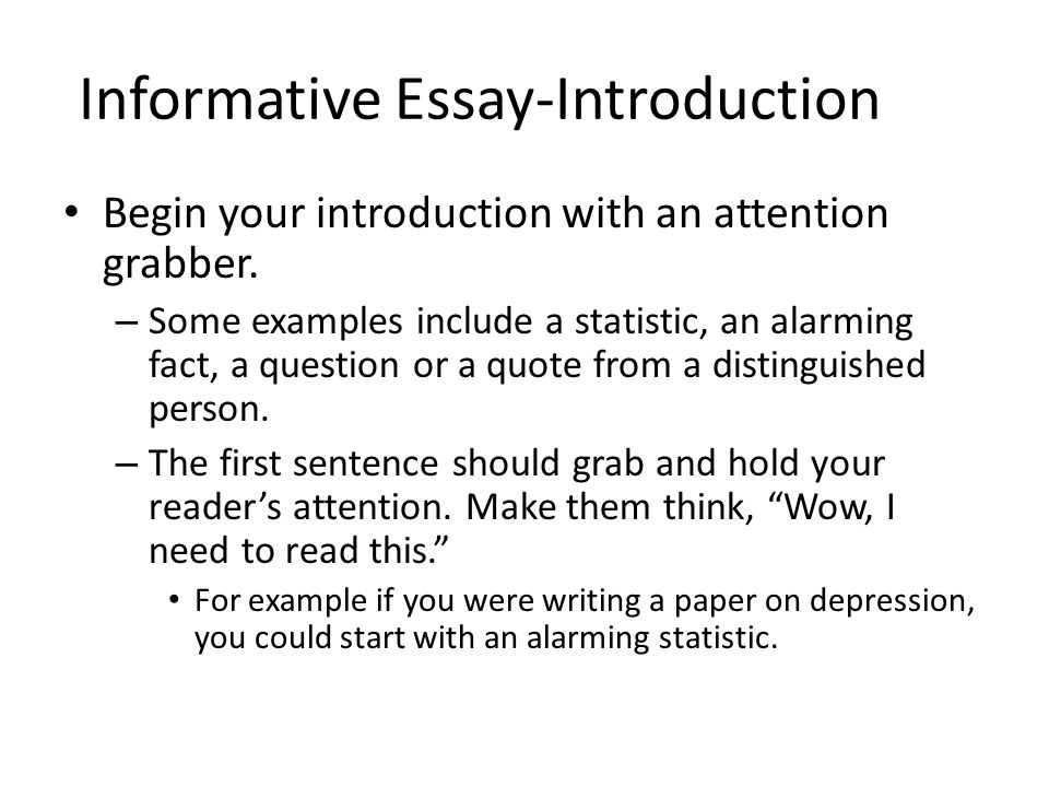 Example Of Informative Speech Essay