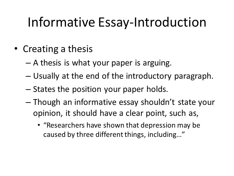 what are the different parts of an informative essay How to write an informative essay conclusion end up the paper by providing a summary of the obtained skills and the main points listed in the body of your informative essay avoid adding any new information and questions bring the closure to the paper while maintaining the reading audience's interest in the offered topic/research problem.