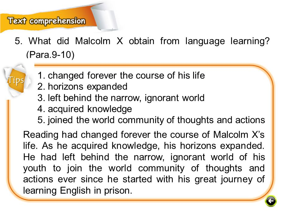 Reading had changed forever the course of Malcolm X's life.