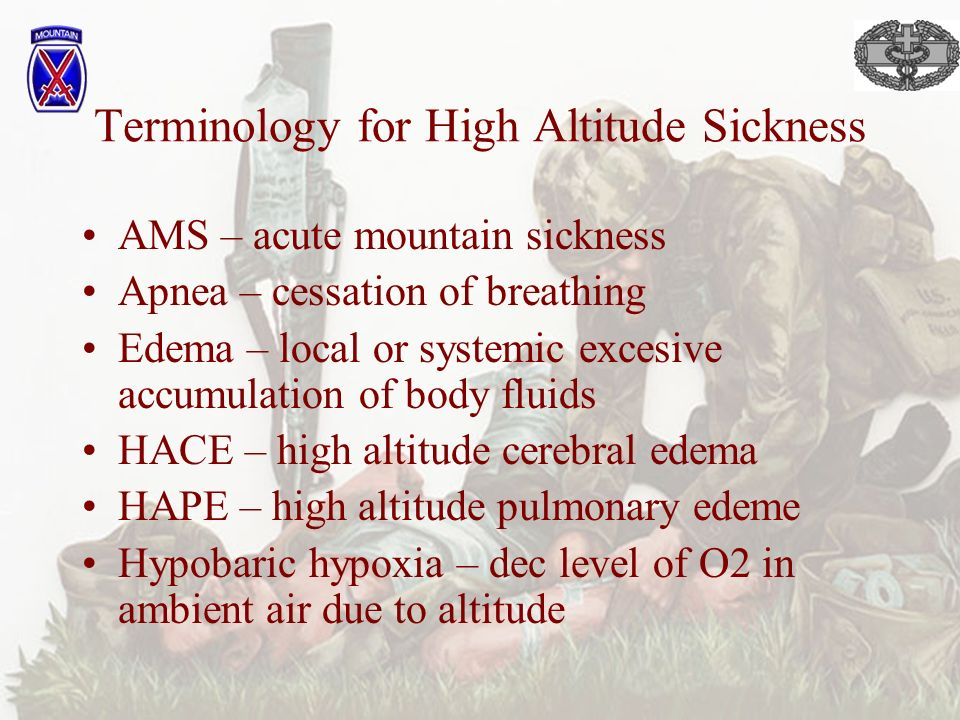 acute mountain sickness essay Acute mountain sickness chronic mountain sickness hackett p wilderness medical society practice guidelines for the prevention and treatment of acute altitude.