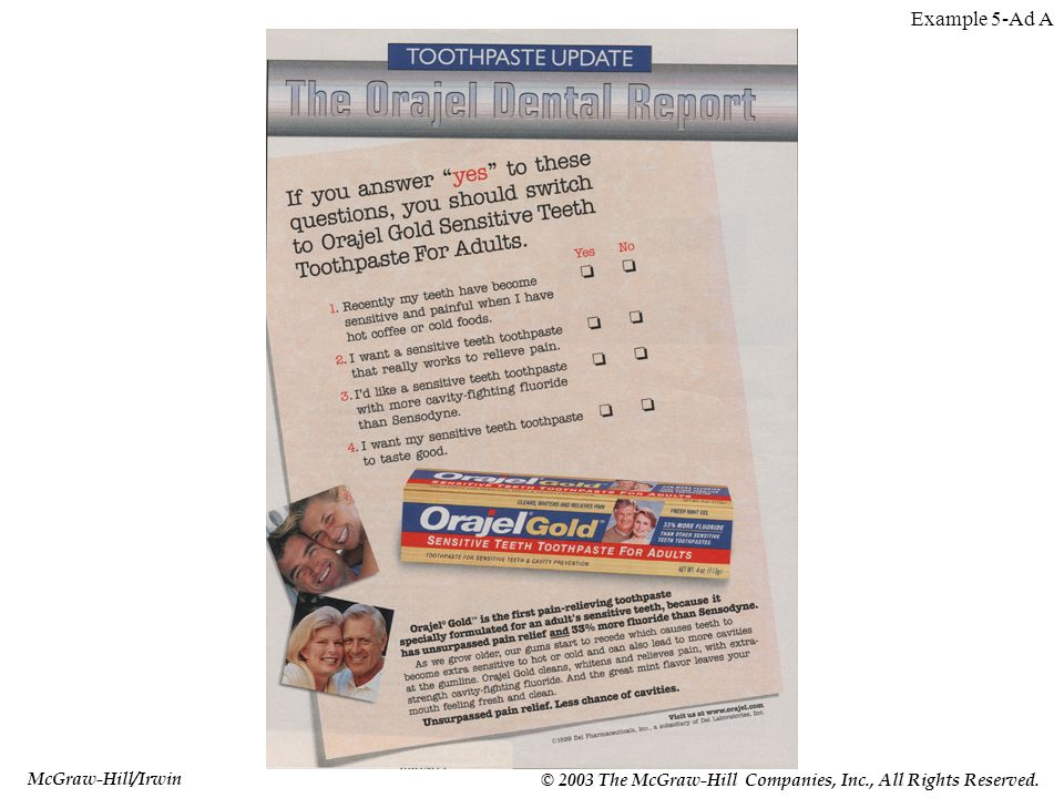 McGraw-Hill/Irwin © 2003 The McGraw-Hill Companies, Inc., All Rights Reserved. Example 5-Ad A