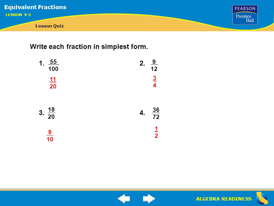 ALGEBRA READINESS LESSON 4-3 Warm Up Lesson 4-3 Warm Up. - ppt ...