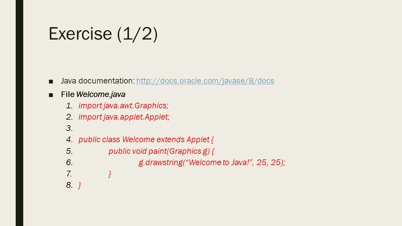 Java tutorial slides image collections any tutorial examples oracle docs java tutorial image collections any tutorial examples cpsc 233 tutorial 01 05 jan 19 baditri Images