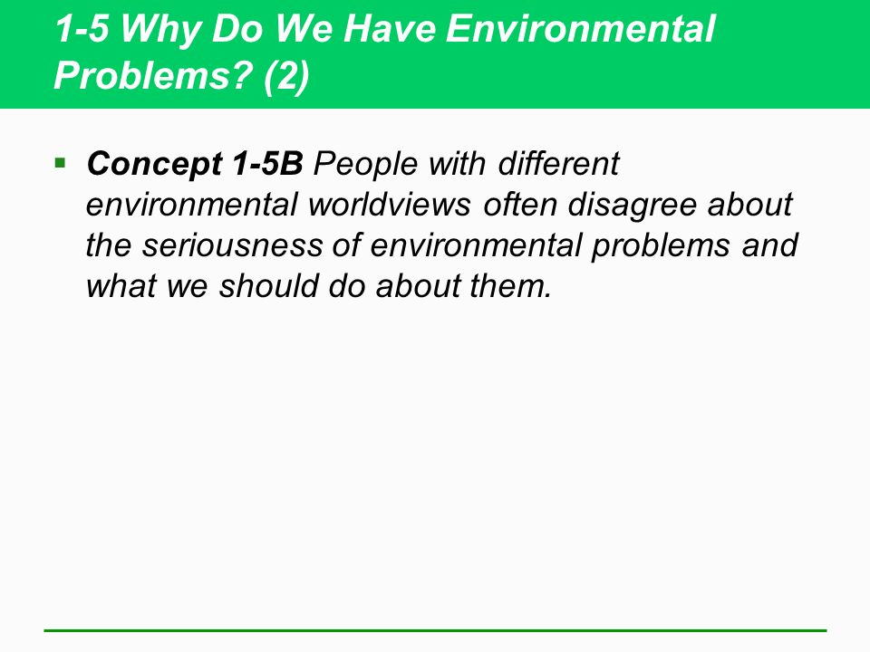 1-5 Why Do We Have Environmental Problems.
