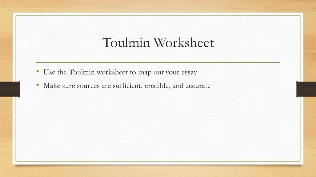 Toulmin Argument Essay