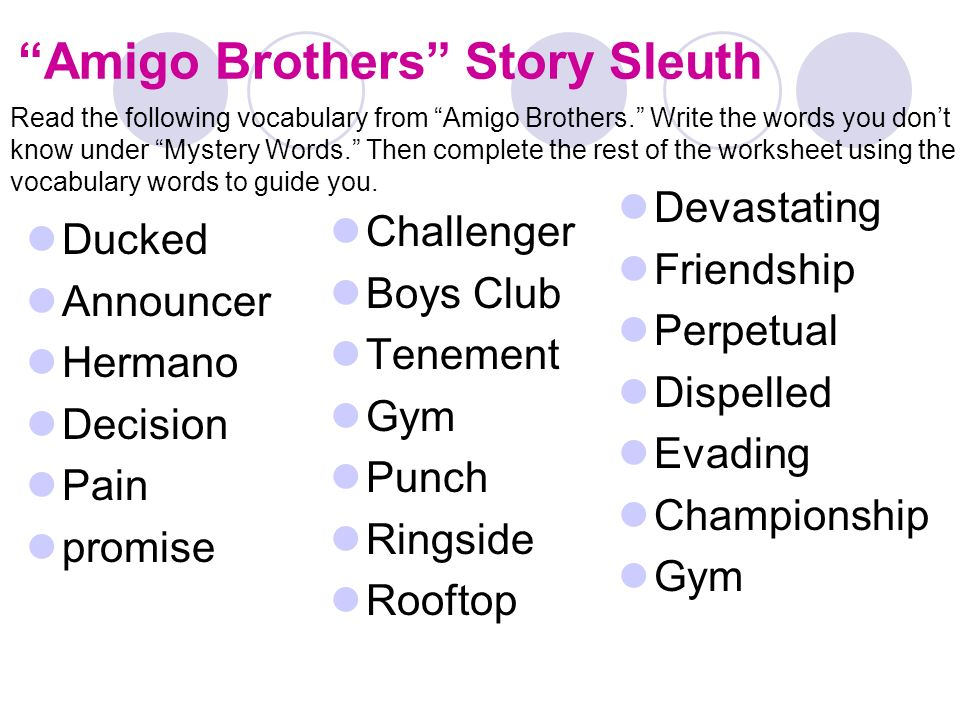 Internal and External Conflict What is Conflict A conflict is a – Amigo Brothers Worksheets