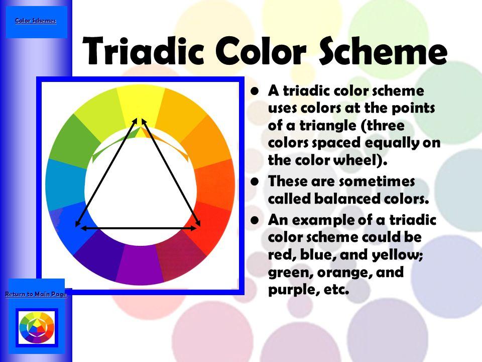 Split Complement Color Scheme A Compliment Includes Main And