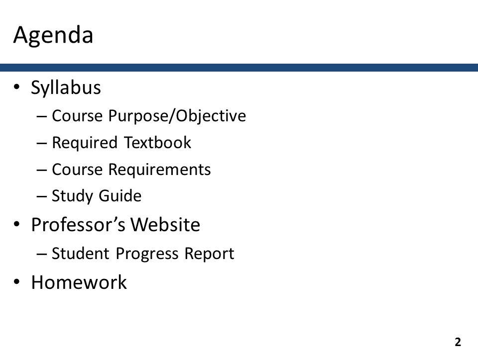 college syllabus