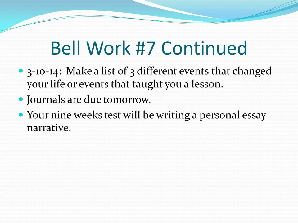 personal essay journals Introduce students to autobiographical journal writing with this lesson plan reflective journals are notebooks or pieces of paper that students use when.