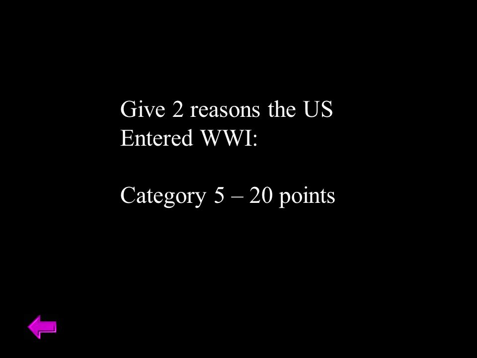Powerpoint Jeopardy Pre-war Russia FranceWWI ppt download