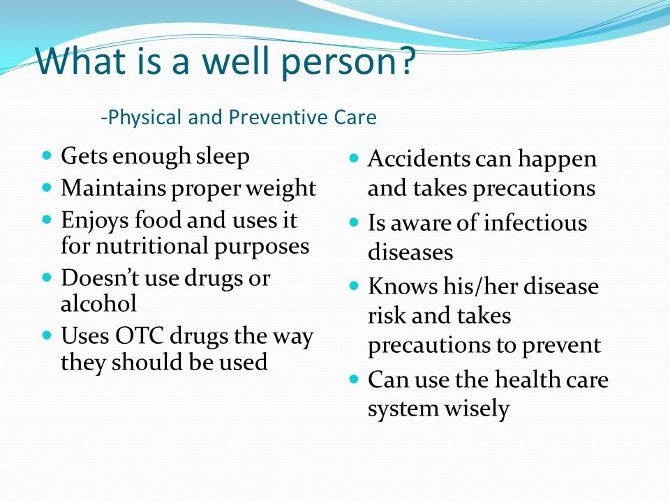 The Wellness Line Death from Disease Poor Level of Health Good Level of Health Superior Level of Health Marginal Level of Health Moderate Level of Hea