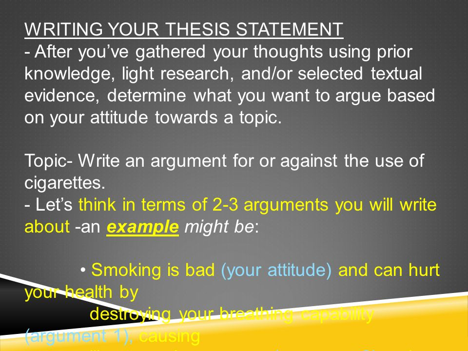 what comes after your thesis statement