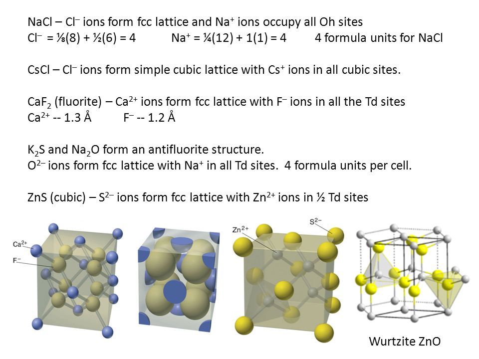 Crystal Structures Metals tend to have a close-packing (c. p. ...