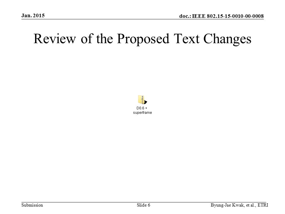 doc.: IEEE Submission Review of the Proposed Text Changes Jan.