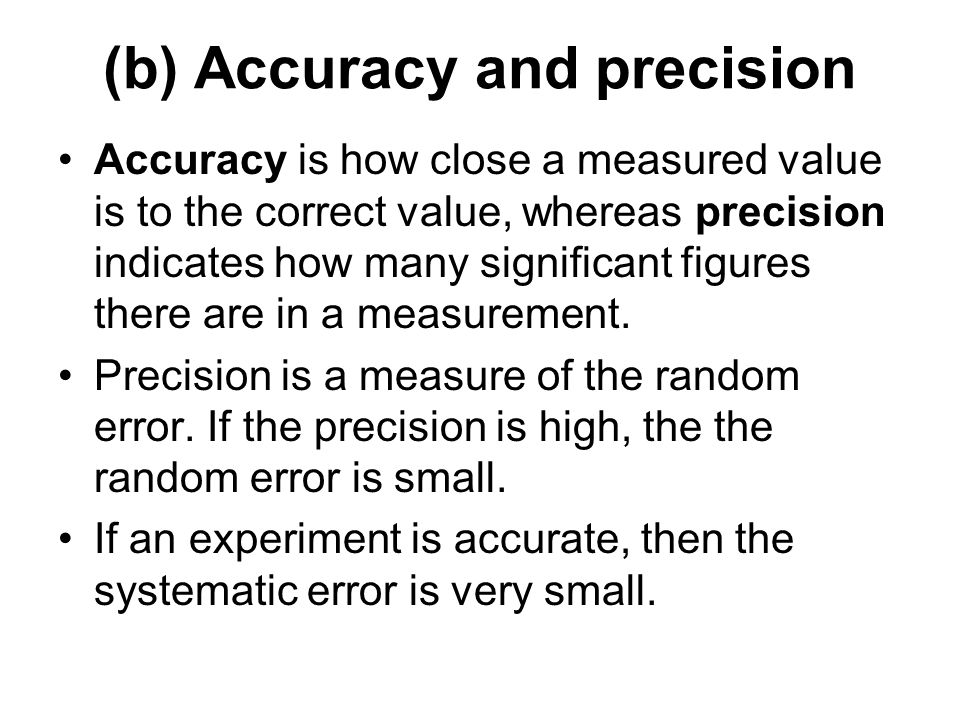 Chapter 11: Measurement and data processing Objectives: 11.1 ...