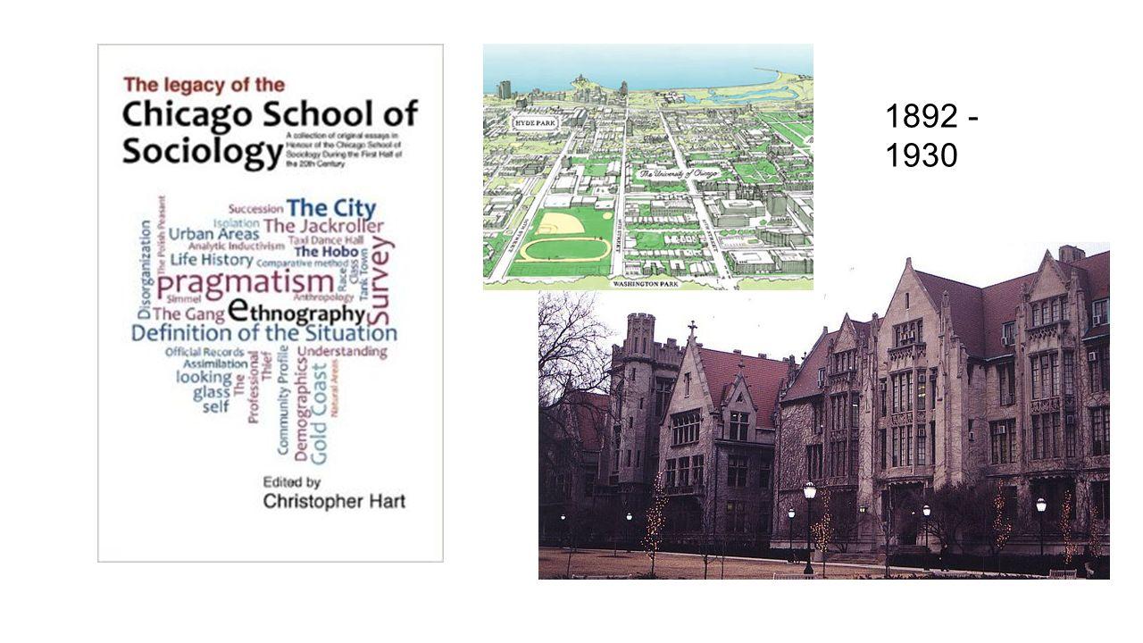 The chicago school of sociology robert park w i thomas charles h george herbert mead 2 1892 1930 buycottarizona