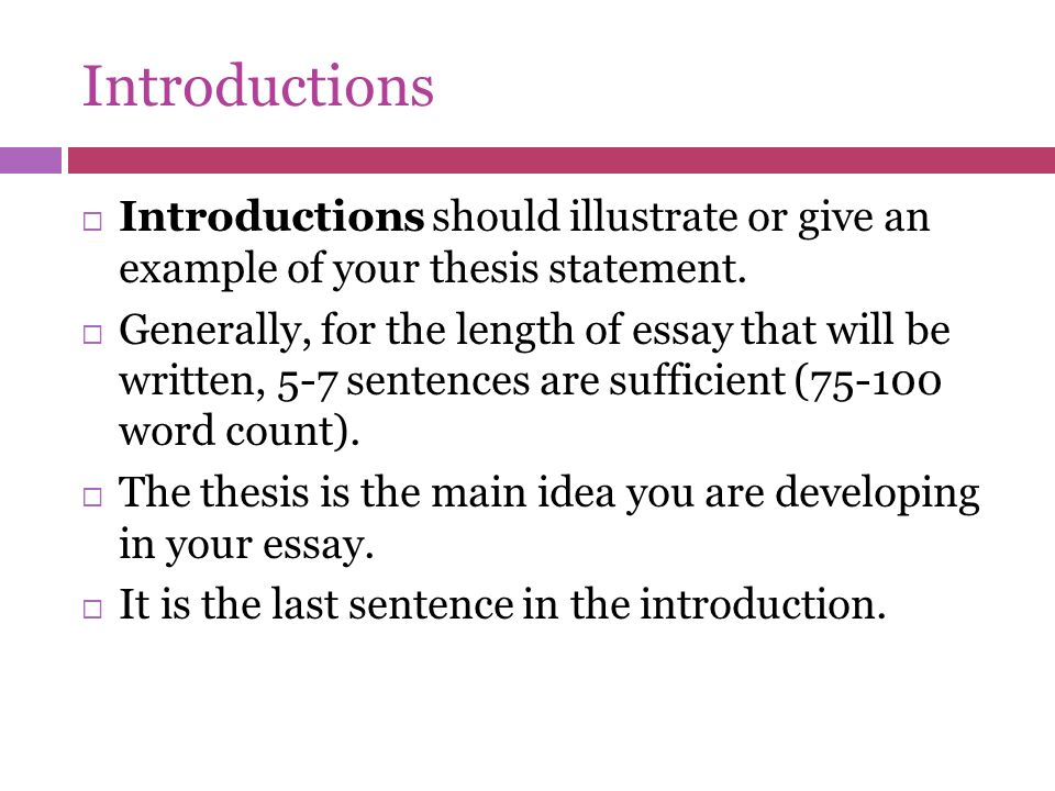 Thesis Writing Introduction