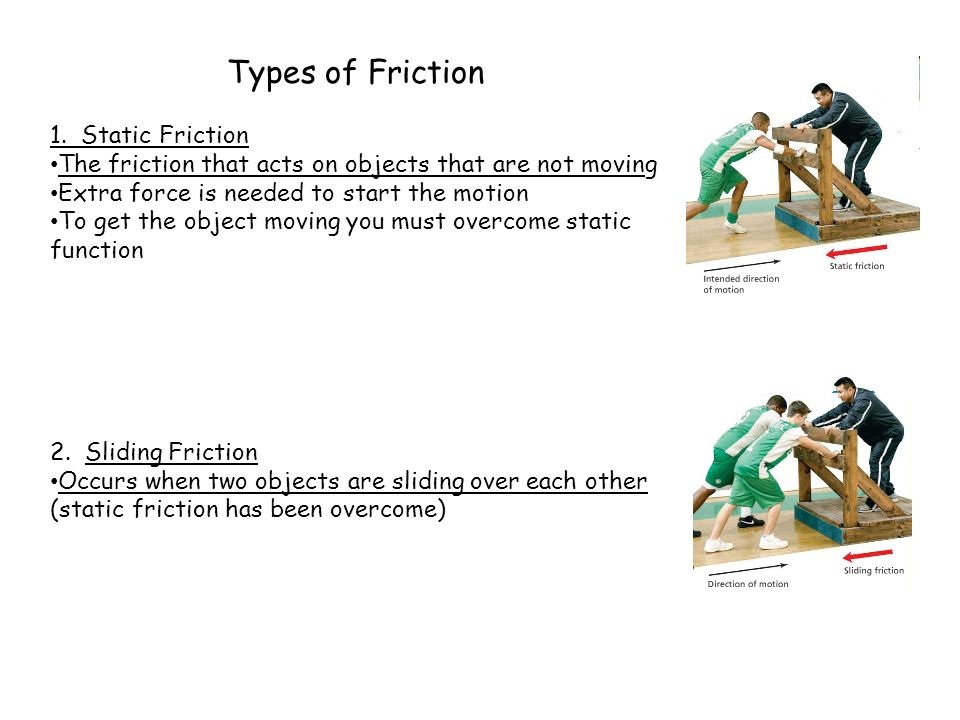 Friction Worksheet  Bhbrinfo