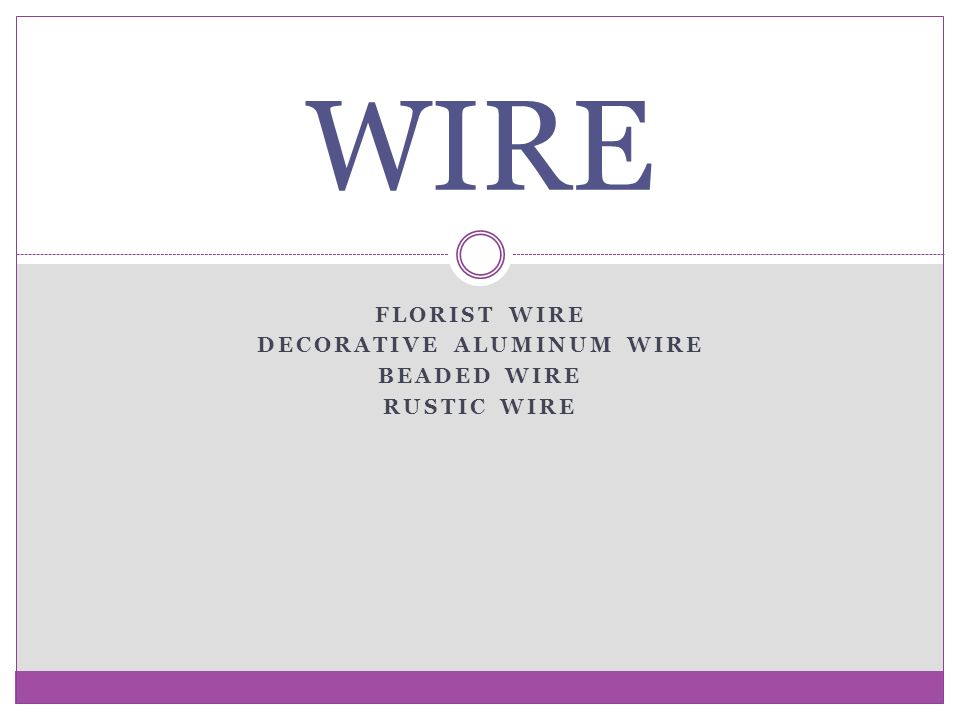 FLORIST WIRE DECORATIVE ALUMINUM WIRE BEADED WIRE RUSTIC WIRE WIRE ...