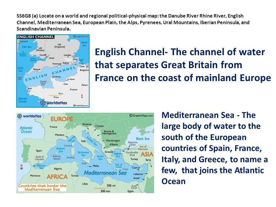 Geography of Europe SS6G8 Locate selected features of Europe a