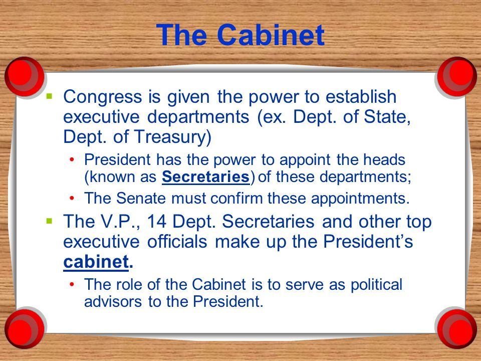 The Executive Branch. Powers of the President  Commander in ...