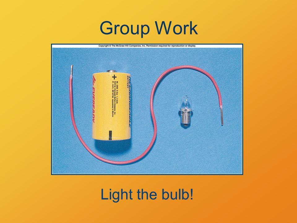 Group Work Light the bulb!