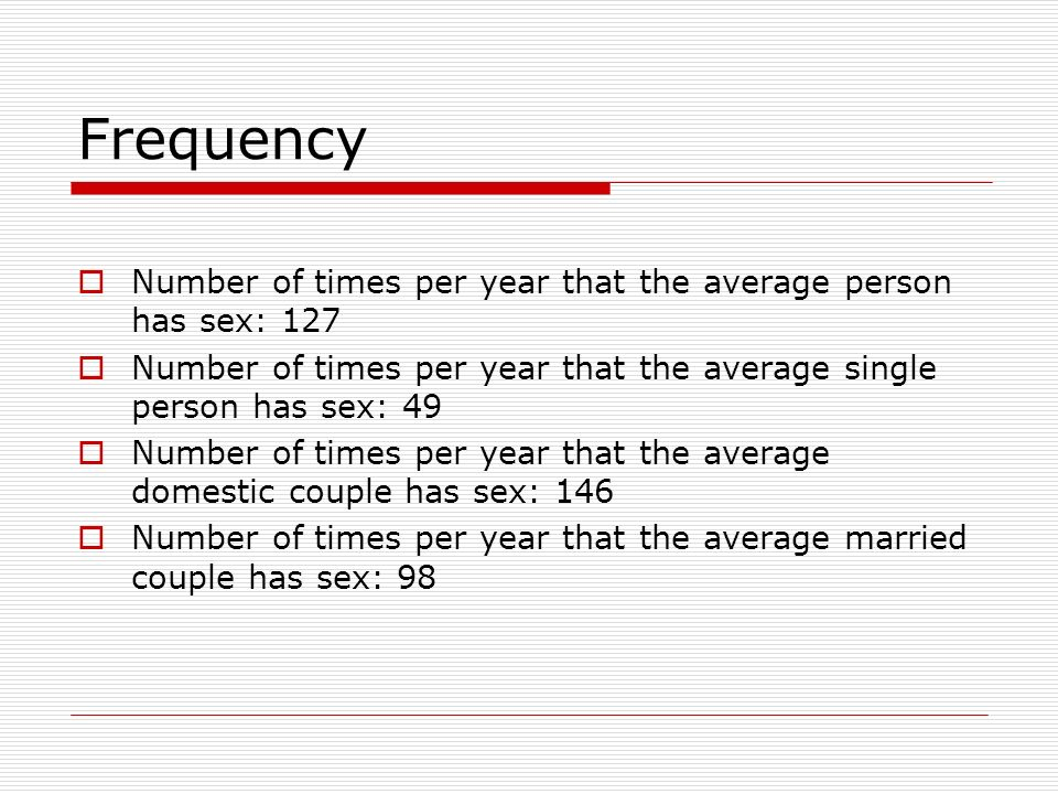 Average times married couples have sex