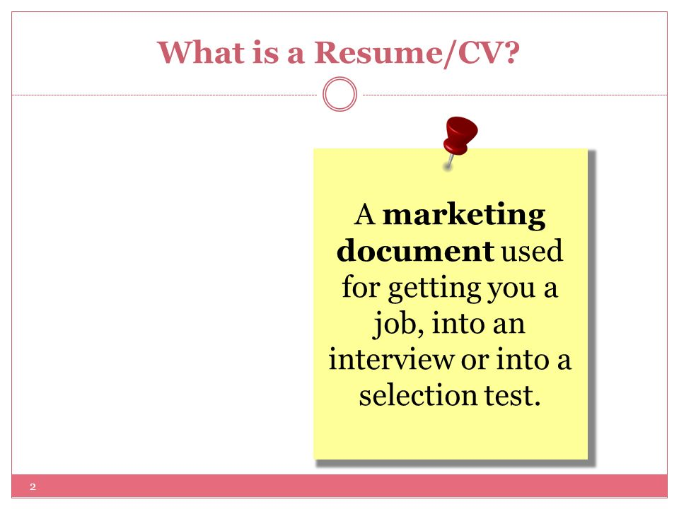 2 what is a resumecv