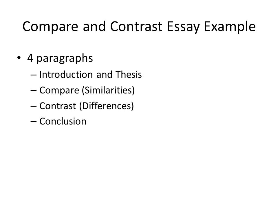 Merveilleux Introduction To Compare And Contrast Essay
