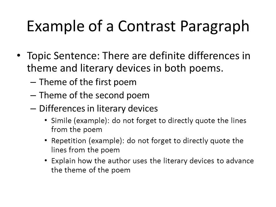 How to write intro for COMPARE/CONTRAST essay?