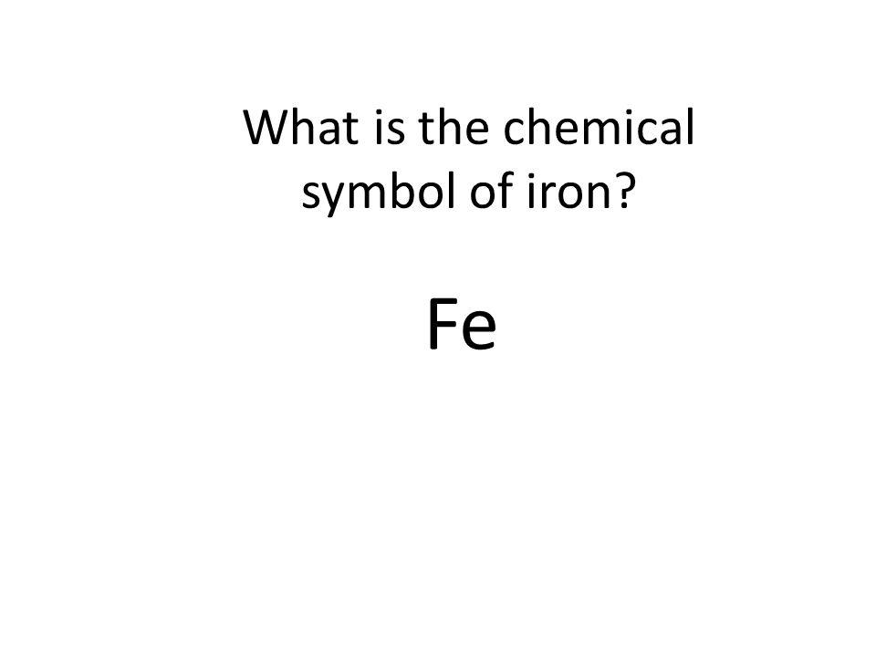 Whats The Chemical Symbol For Iron Gallery Free Symbol And Sign