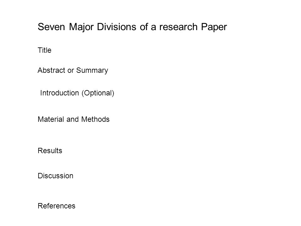 title of a research paper